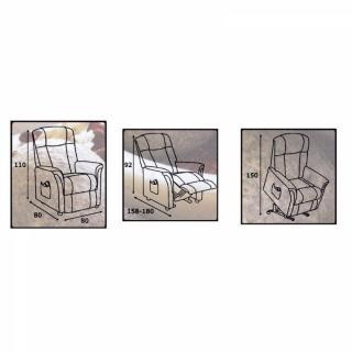 FREEDOM fauteuil relax et releveur électrique (mono-moteur) microfibre BOA gris