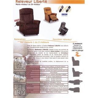 FREEDOM fauteuil relax et releveur électrique (bi-moteur) microfibre BOA marron cendré