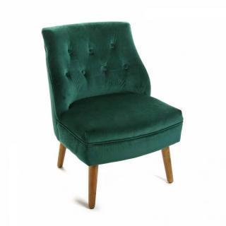 Fauteuil vintage SABA velours vert
