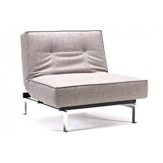 Fauteuil design SPLITBACK CHROME gris Mixed Dance Greyconvertible lit 115*90cm