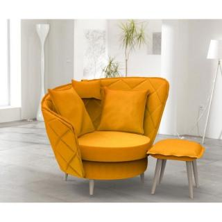 fauteuils poufs design au meilleur prix fama fauteuil relax pivotant volta style scandinave. Black Bedroom Furniture Sets. Home Design Ideas