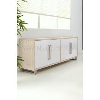 Buffets meubles et rangements flora buffet en bois laqu for Planche bois laque blanc brillant