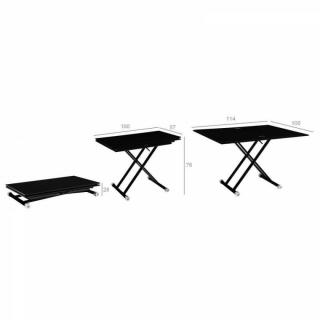tables relevables meubles et rangements table basse free noir brillant relevable extensible. Black Bedroom Furniture Sets. Home Design Ideas