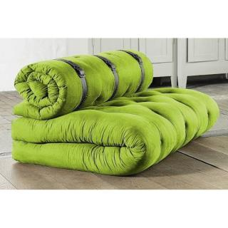 Chauffeuse 2 places BUCKLE UP futon vert lime couchage 140*200*24cm