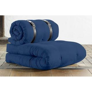 Chauffeuse BUCKLE UP futon bleu royal couchage 70*200*24cm