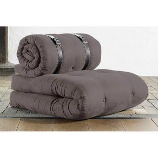 Chauffeuse BUCKLE UP futon gris couchage 70*200*24cm