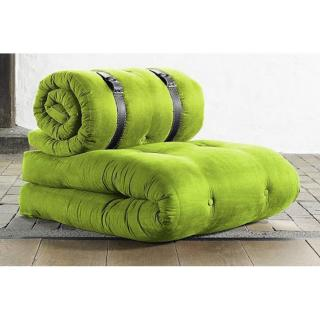 Chauffeuse BUCKLE UP futon vert lime couchage 70*200*24cm