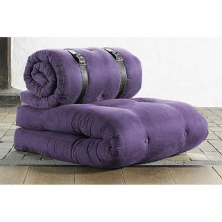 Chauffeuse BUCKLE UP futon violet couchage 70*200*24cm
