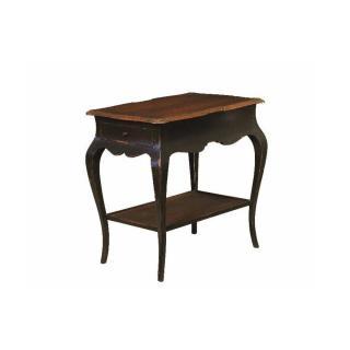 Guéridon BOILEAU de style régence avec 2 tiroirs et une tablette