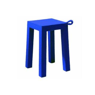HANDLE bleu TemaHome tabouret en bois et tissu