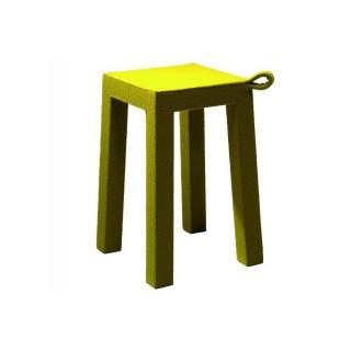 HANDLE jaune TemaHome tabouret en bois et tissu