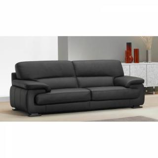 Canapé 3 places HERMES cuir eco noir