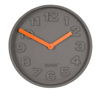 Horloge Zuiver CONCRETE TIME orange finition beton