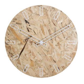 Horloge Zuiver OSB TIME en bois naturel reconstitue