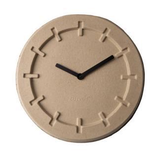 Horloge Zuiver revêtement polyuréthaneLP TIME ROUND en carton recycle beige