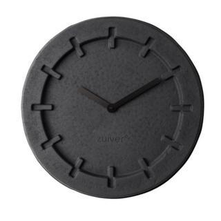 Horloge Zuiver revêtement polyuréthaneLP TIME ROUND en carton recycle noir