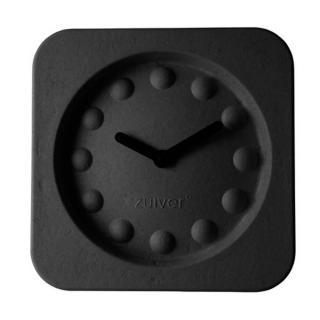 Horloge Zuiver PULP TIME en carton recycle noir