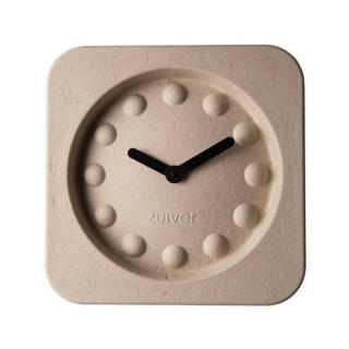 Horloge Zuiver PULP TIME en carton recycle beige