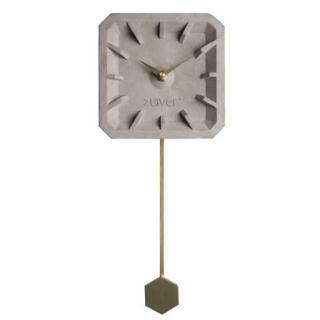 Horloge ZUIVER TIK TAK brass en béton