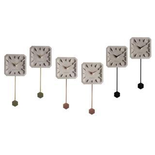 Lot de 6 Horloges ZUIVER TIKTAK en béton