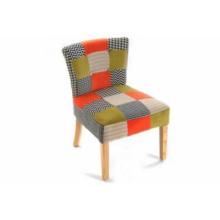 HOUNDSTOOTH Fauteuil design patchwork et pied de poule