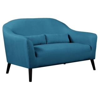 Canapé 2 places style scandinave IGEA tissu tweed bleu azur