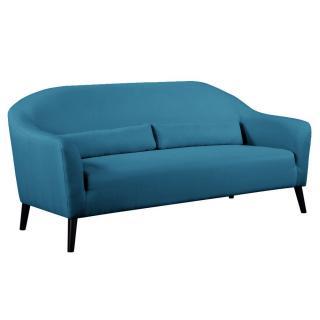 Canapé 3 places style scandinave IGEA tissu tweed bleu azur