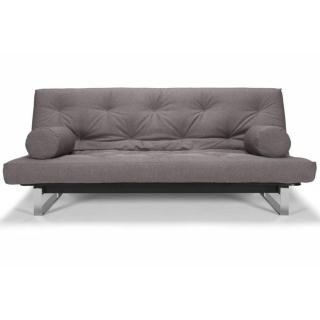 INNOVATION LIVING  Canapé convertible clic-clac MINIMUM lit 140*200 cm capitonné tissu Flashtex Dark grey