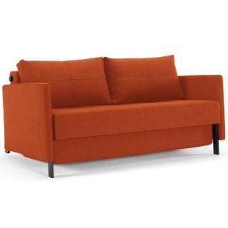 Canapé design avec accoudoirs CUBED ARMS Mixed Dance_Burned Orange convertible lit 200*140 cm