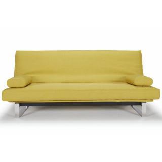 Clic-clac design MINIMUM Soft_Mustard Flower convertible lit 200*140 cm coussins déco inclus
