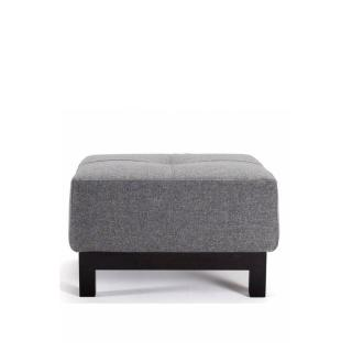 INNOVATION LIVING  Pouf design BIFROST EXCESS DELUXE gris Twist Charcoal 65*65 cm