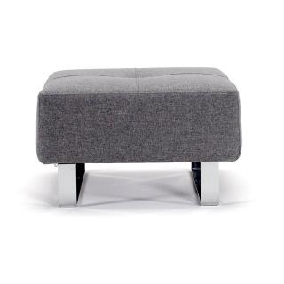 INNOVATION LIVING  Pouf design CASSIUS DELUXE EXCESS gris Twist Charcoal 65*65 cm