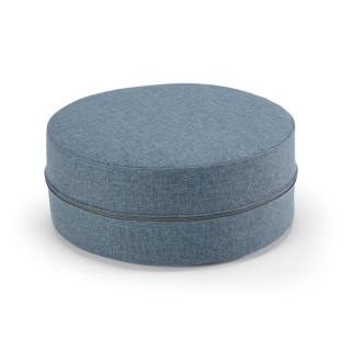 INNOVATION LIVING   Pouf DECONSTRUCTED tweed bleu 50*20cm