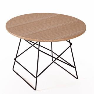 INNOVATION LIVING  GRID table basse design taille M coloris chêne