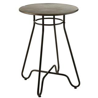 Table de bar industriel INTU en métal noir.