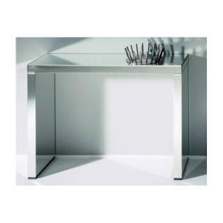KEOPS Table console en verre miroir grand modèle