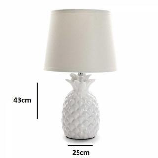 Lampe à poser ANASO en céramique blanc
