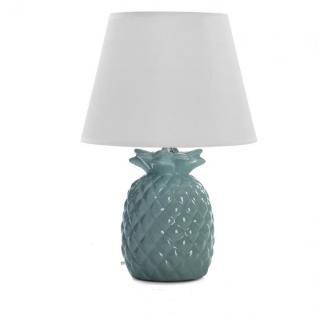 Lampe à poser ANASO en céramique bleu
