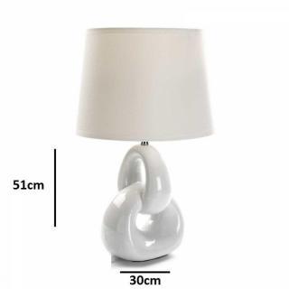 Lampe à poser CERA en céramique blanc