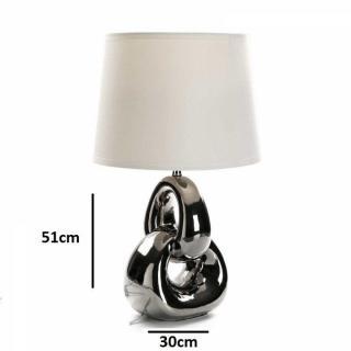 Lampe à poser CERA en céramique noir