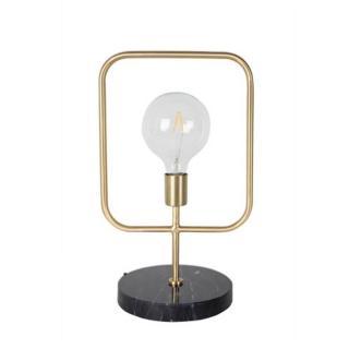Lampe à poser CUBO en laiton pied marbre style retro