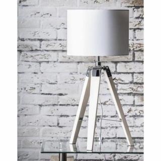 Lampe DIM design en tissu blanc