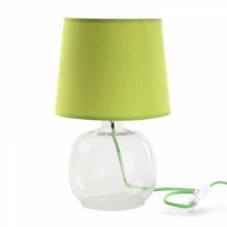 Lampe LUCILA design vert pied verre