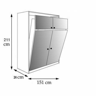 Armoire lit escamotable verticale au meilleur prix for Armoire profondeur 45 cm