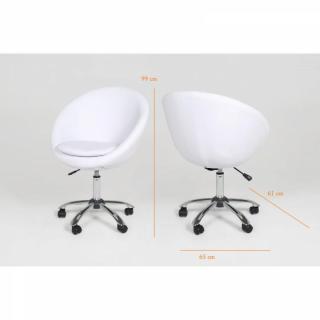 LINN fauteuil cuir blanc actona design