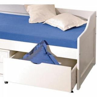Lits tiroirs rangement chambre literie lit banquette floro multi rang - Lit pin massif blanc 90 ...