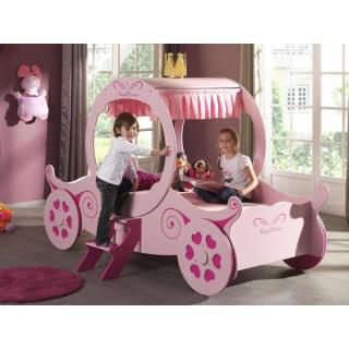 Lits enfant chambre literie lit carrosse funbeds rose design princess - Lit princesse belgique ...