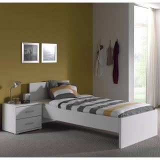 Ensemble chambre enfant AYA 2 éléments blanc couchage 90 x 200cm