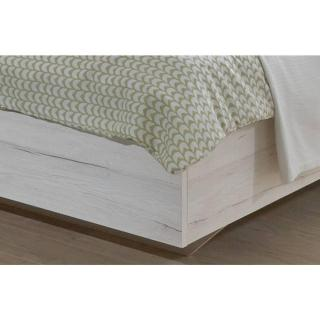 Lit design IDAHO 160*200cm avec 2 chevets chêne blanc