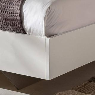 Lit design THALIA 160 x 200 cm blanc rechampis graphite